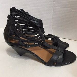 Aldo strappy heeled sandals with zippered …